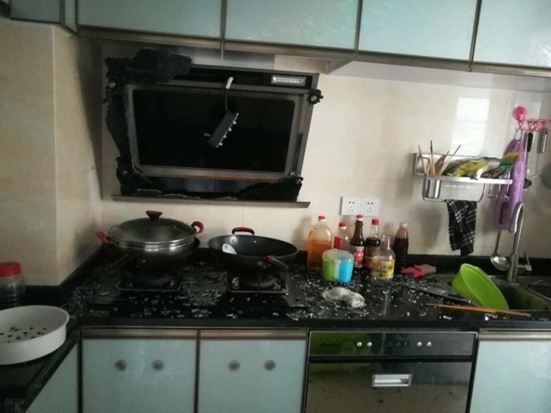 【西区】她正要进厨房 里头突然爆炸