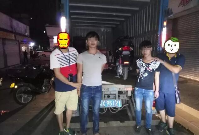 【南头】两男子用货车盗窃摩托车被抓现行