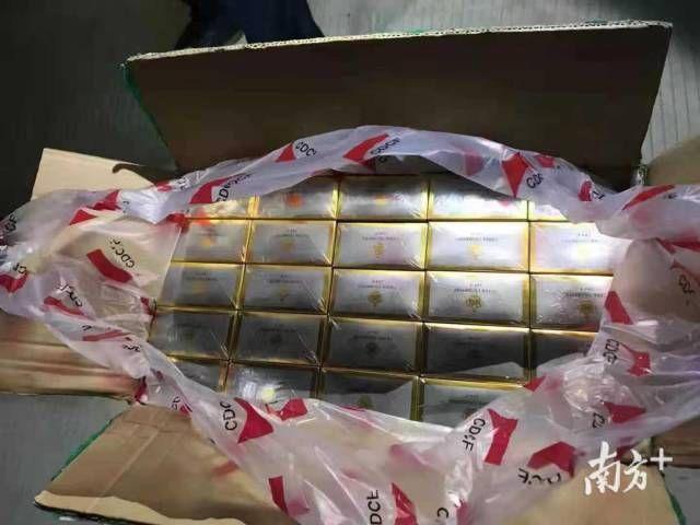 查獲假煙3398條,涉案90萬元,中山警方刑拘一名男子