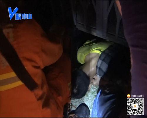 【V眼中山】男子跌落电梯井被轿厢压住 最终奇迹生还!