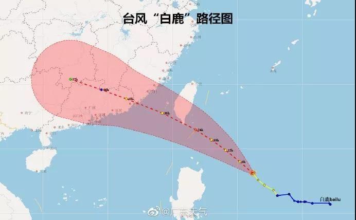 """最新!台风""""白鹿""""将正面袭击广东!中山台风白色预警刚生效"""