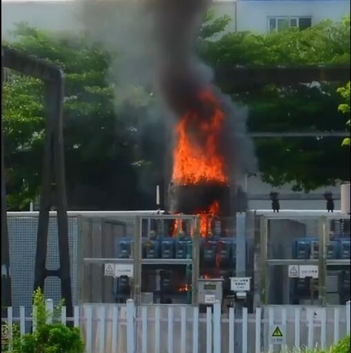 【東升】有驚無險!東升一10千伏變電站著火,消防1分鐘滅火