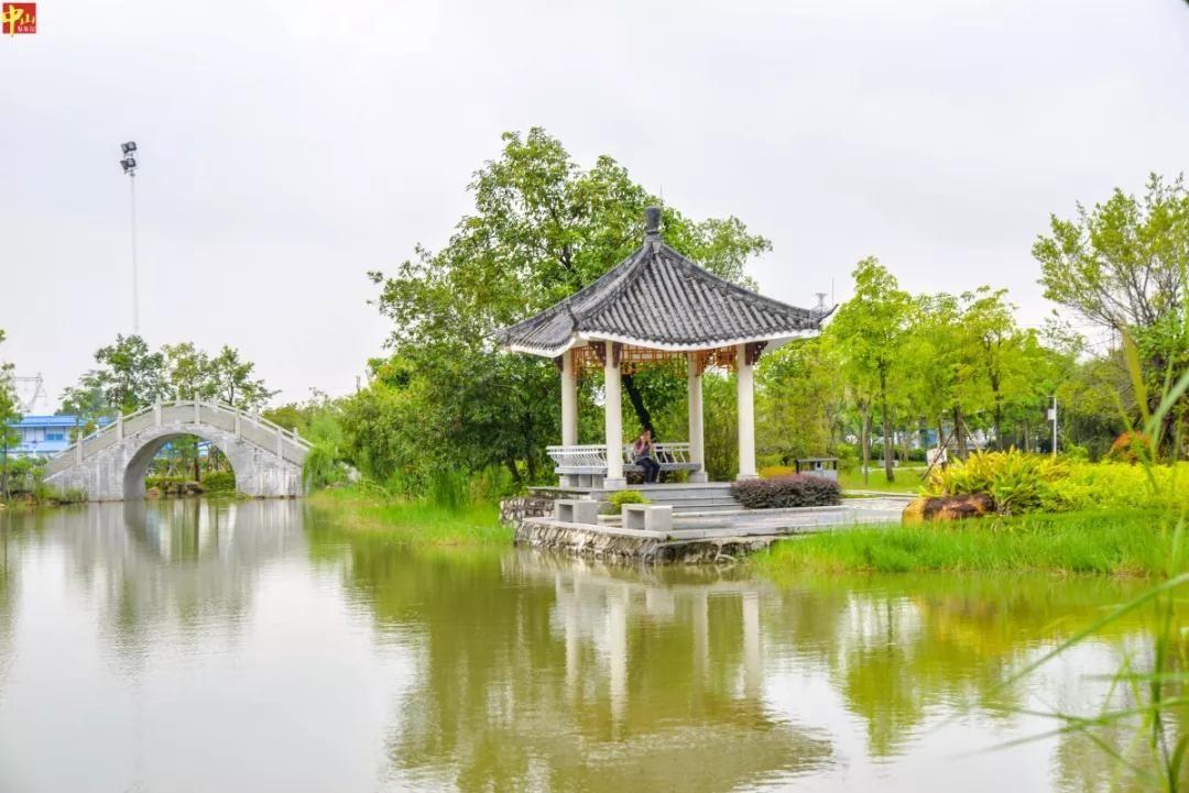 景色如诗如画!中山城区有座岭南水乡风格公园,你或许还没去过