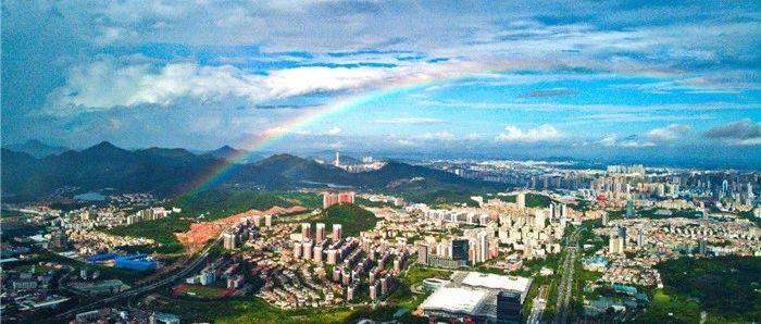 快看!中山出现双彩虹快看!中山出现双彩虹
