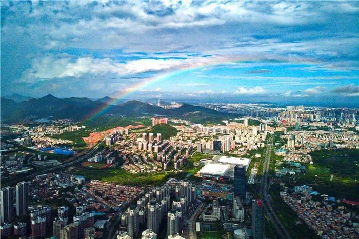 快看!中山出现双彩虹