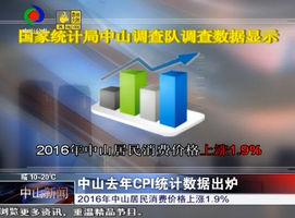 中山去年CPI统计数据出炉