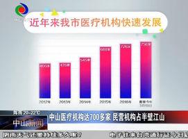 中山医疗机构达700多家 民营机构占半壁江山