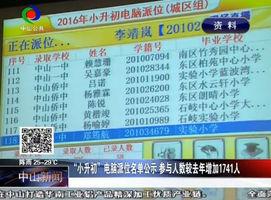 """""""小升初""""电脑派位名单公示 参与人数较去年增加1741人"""