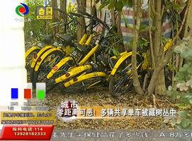 可恶!多辆共享单车被藏树丛中