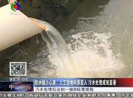 坦洲镇沙心涌:人工湿地风景宜人 污水处理成效显著