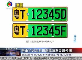中山11月起启用新能源车专用号牌