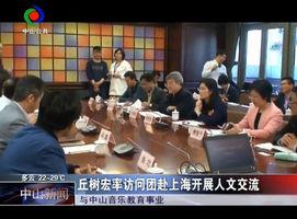丘树宏率访问团赴上海开展人文交流