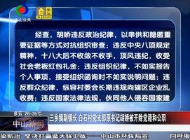 三乡镇副镇长 白石村党支部原书记胡娇被开除党籍和公职
