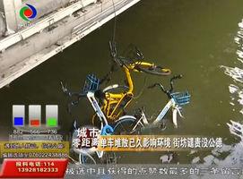 中恳百货一桥底河涌 多架共享单车被丢弃!