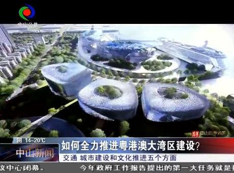 中山如何全力推进粤港澳大湾区建设?