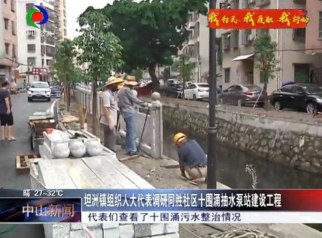 坦洲镇组织人大代表调研同胜社区十围涌抽水泵站建设工程