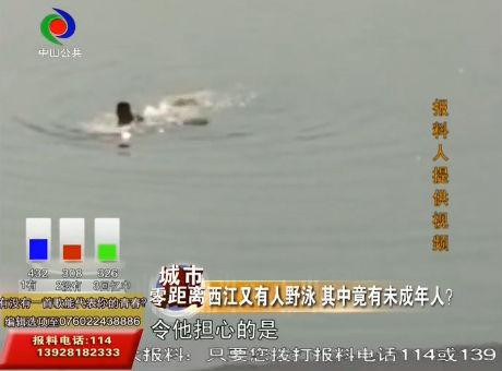 不要命了?西江有人野泳 其中竟有未成年人?