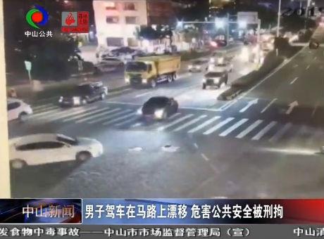 視頻丨男子駕車在馬路上漂移 危害公共安全被刑拘