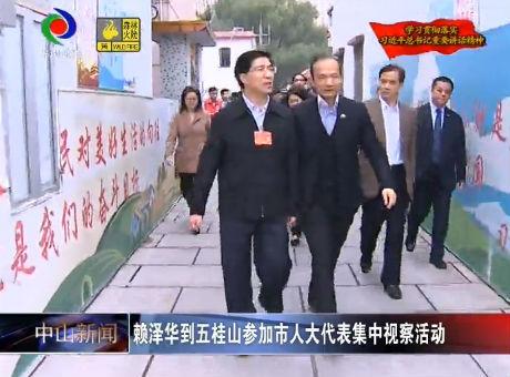 視頻丨賴澤華到五桂山參加市人大代表集中視察活動